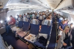 Brussels Airlines new Economy class cabin rear A330-300 SN501 BRU-JFK