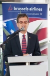 US Ambassador Howard Gutman at Brussels Airlines Inaugural Flight SN501 to New York