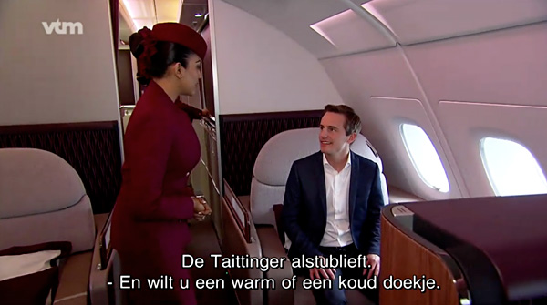 bart lapers telefacts vtm first class qatar airways