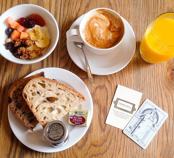Breakfast at the Corner Room Town Hall Hotel London