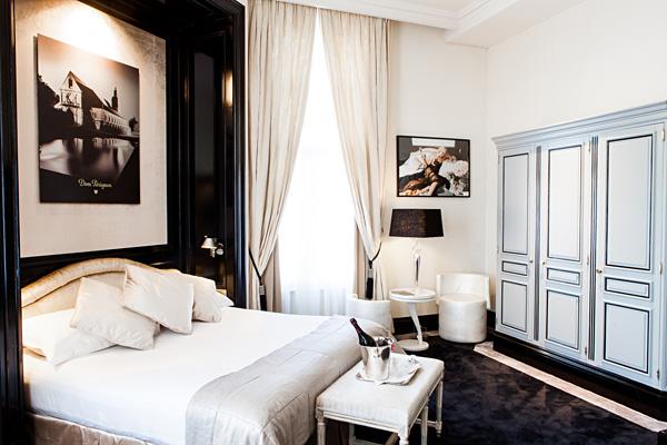 Bedroom of Dom Perignon Junior Suite InterContinental Amstel Amsterdam