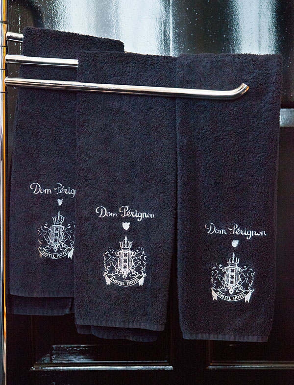 Dom Perignon Towels at InterContinental Amstel Amsterdam