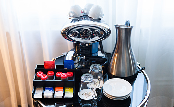 Illy Coffee Machine at Dom Perignon Suite InterContinental Amstel Amsterdam