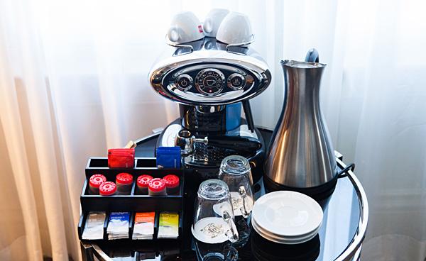 Illy Coffee Machine at Dom Perignon Suite InterContinental Amstel Amsterdam