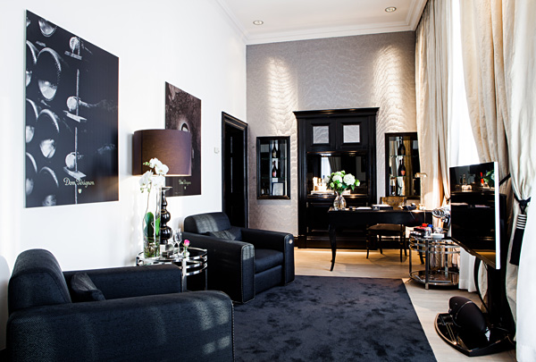 Living room Dom Perignon Suite InterContinental Amstel Amsterdam