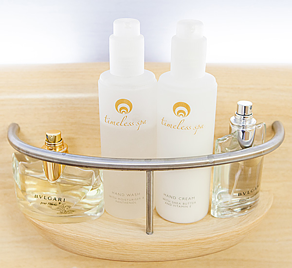 Emirates First Class Shower Spa - BVLGARI amenities