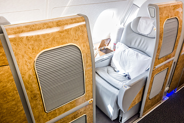 Emirates First Class A380 Suite 2K
