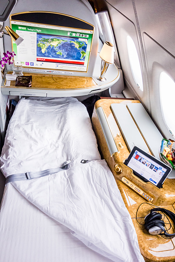 Emirates First Class A380 Suite Bed