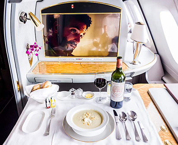 Emirates First Class Almond and Artichoke Soup