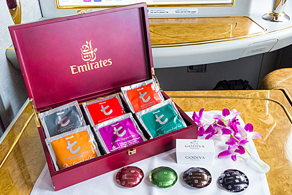 Emirates First Class - Coffee and Tea Selection
