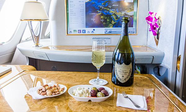 Emirates First Class Dom Perignon 2004 Aperitif