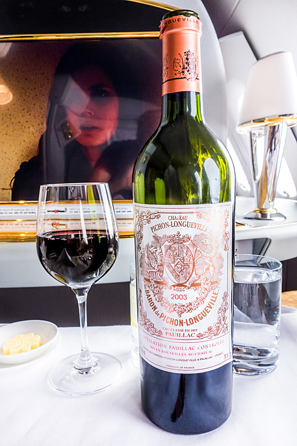 Emirates First Class Red Wine Chateau Pichon Longueville Baron 2003 Pauillac