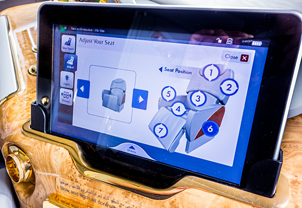 Emirates First Class Suite IFE & Seat Controls Tablet A380