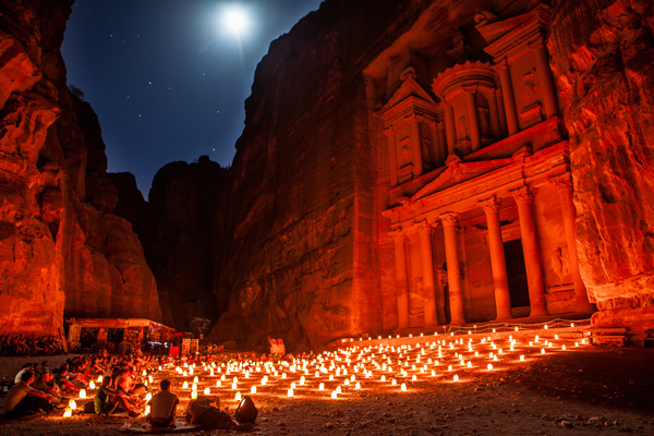 The Treasury, Petra by Night, Jordan