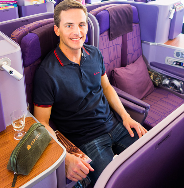 Bart Lapers Thai Airways A380 Royal Silk Business Class