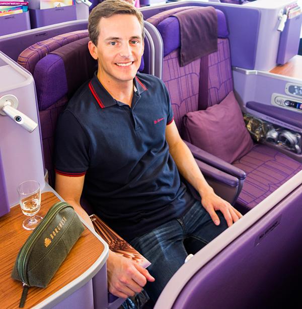 Bart Lapers Thai Airways A380 Royal Silk Business Class