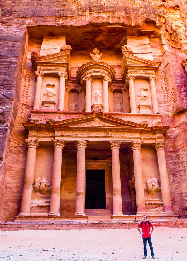 bart lapers at the treasury in Petra Jordan