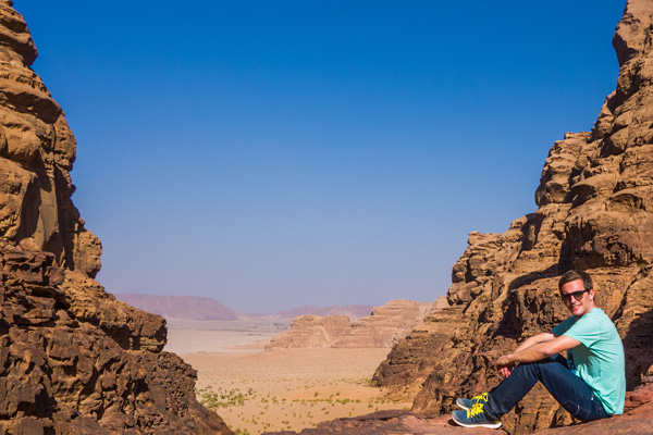 bart lapers at wadi rum desert in jordan