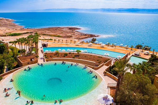 Swimming Pool and Beach - Kempinski Hotel Ishtar Dead Sea