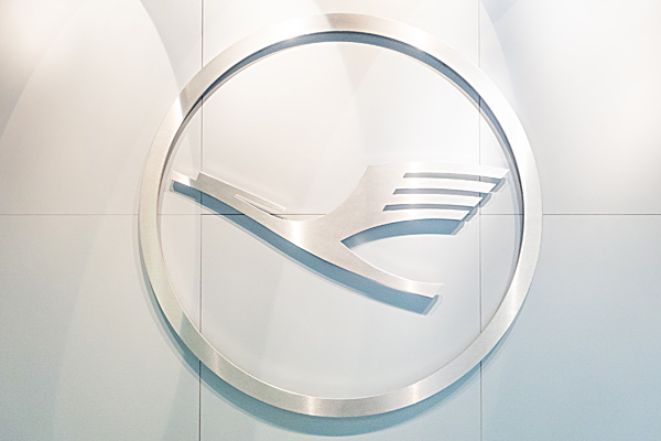 Lufthansa Logo at Frankfurt Airport