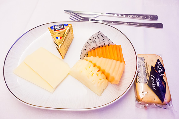 Thai Airways Royal Silk Business Class Assorted Cheese