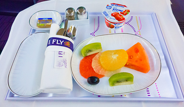Thai Airways Royal Silk Business Class Breakfast