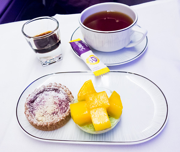 Thai Airways A380 Royal Silk Business Class Pandan Sticky Rice Jelly Dessert