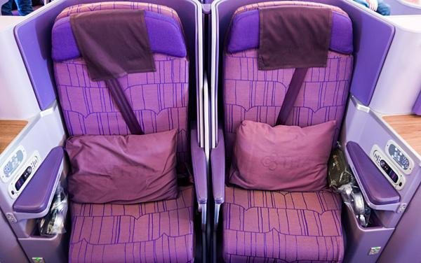 Thai Airways A380 Royal Silk Business Class Seats 19E 19F