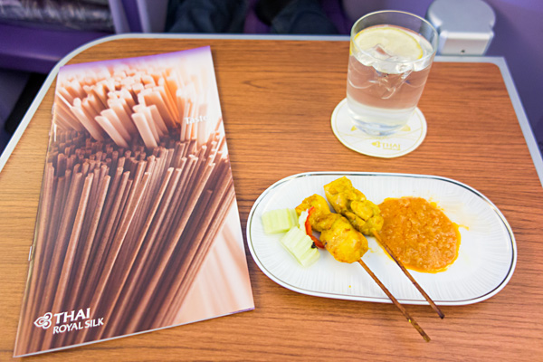 Thai Airways Chicken Satay with Peanut Sauce
