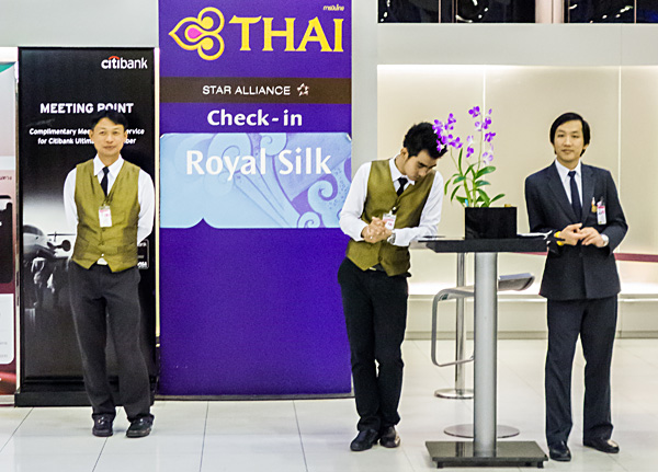 Thai Airways Royal Silk Check-in Bangkok Airport