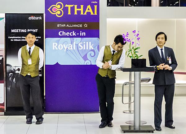 Thai Airways Royal Silk Check-in Bangkok Airport