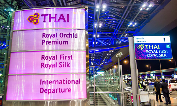 Thai Airways Royal Silk Departure Bangkok Suvarnabhumi Airport