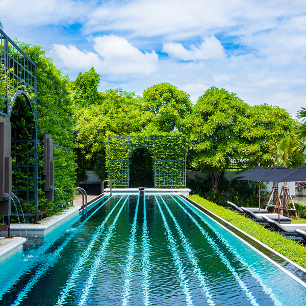 The pool at The Siam Hotel Bangkok
