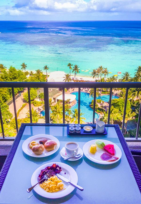Breakfast at Regency Club at Hyatt Regency Guam