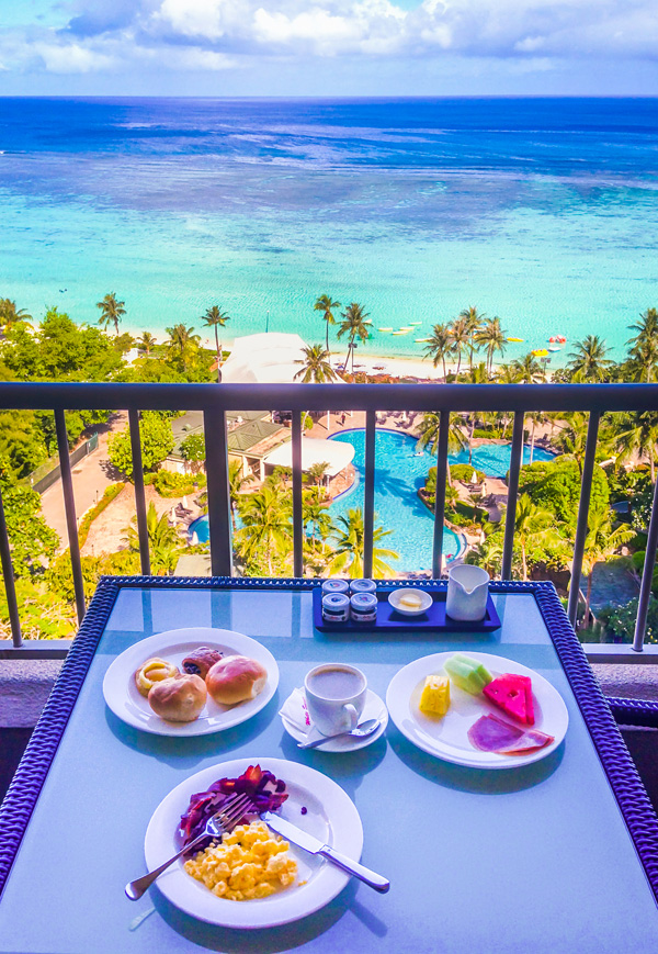 Breakfast at Regency Club at Hyatt Regency Guam