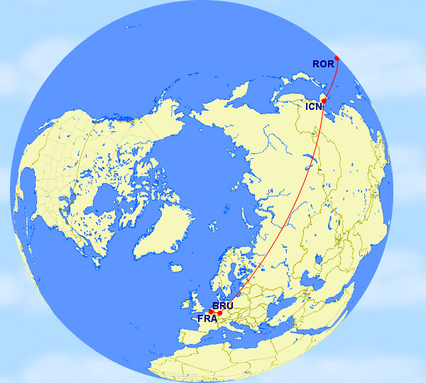 ROR-ICN-FRA-BRU with LifeMiles