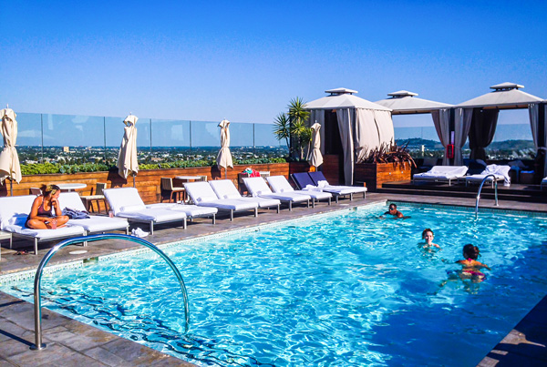 Rooftop Pool at SIXTY hotel in Beverly Hills