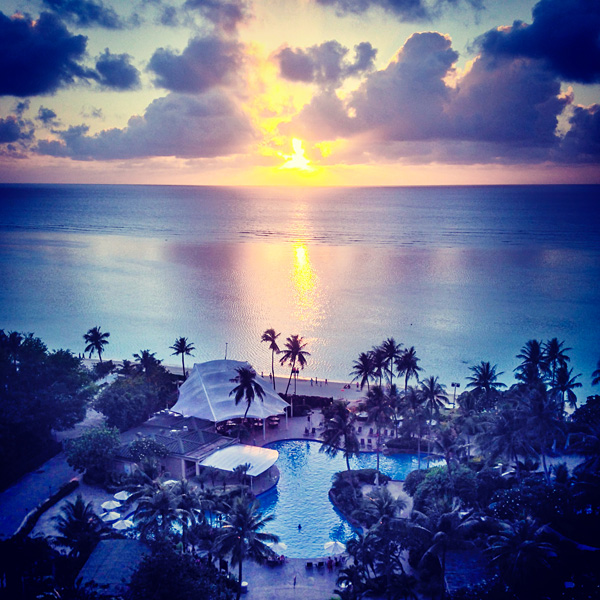 Sunset at Hyatt Regency Guam