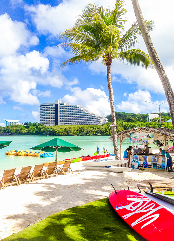 The beach at Westin Guam Tumon Bay