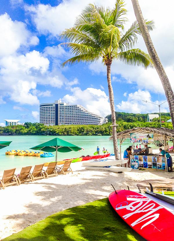 The beach at Westin Guam Tumon Bay