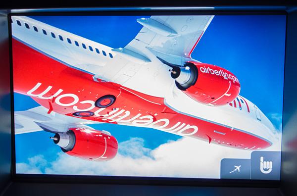 Air Berlin A330 new Business Class IFE Screen