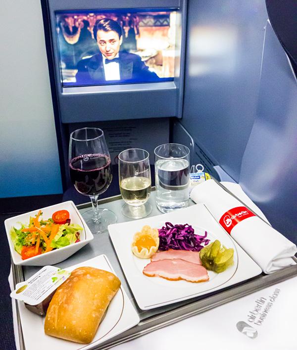 Air Berlin A330 new Business Class Meal Service Starter