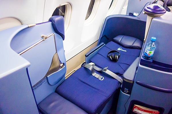 Air Berlin new Business Class FullFlat Seat Bed mode