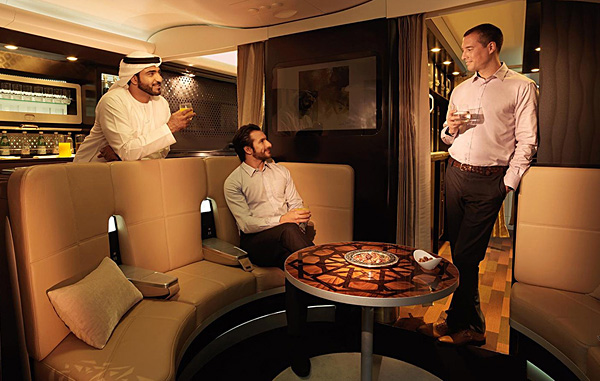 Etihad Airways A380 First Class Apartment Upper Deck The Lobby
