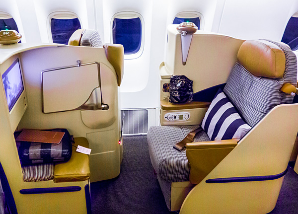 Etihad Airways Business Class AUH-CGK Boeing 777-300ER