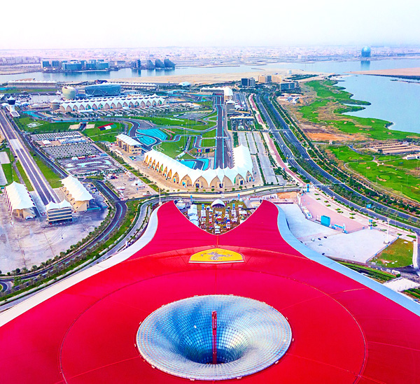 Ferrari World Air Berlin flight landing at Abu Dhabi airport