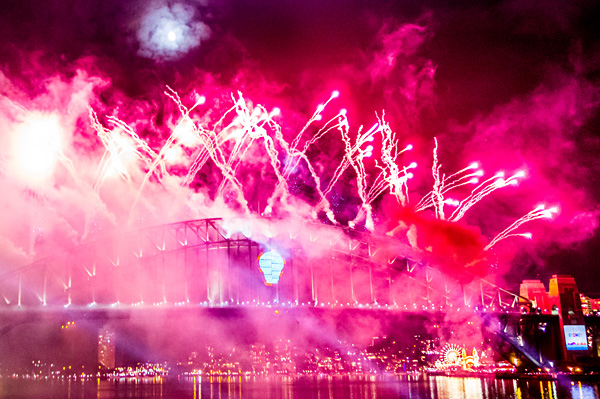 New Year's Eve Fireworks Sydney Harbour Bridge