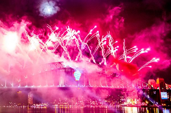 New Year's Eve Fireworks Sydney Harbour Bridge