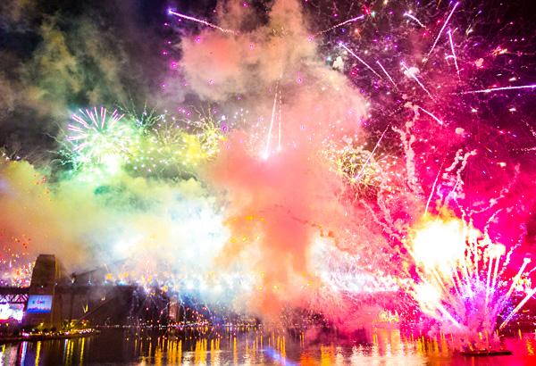 Sydney New Year's Eve Fireworks Harbour Bridge