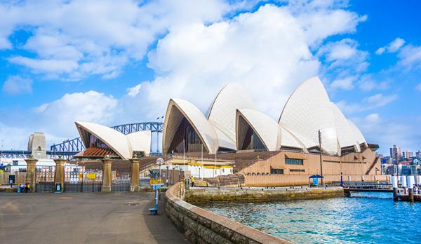 Sydney Opera House seen from The Royal Botanic Garden